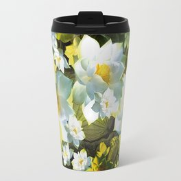 """White flowers forest"" Travel Mug"