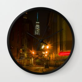 Freedom Tower view from Chinatown. New York City. Wall Clock