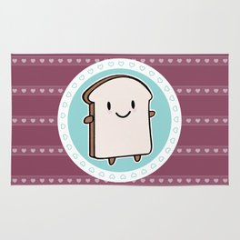 Happy Bread Slice Rug