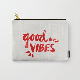 Good Vibes – Red Ink Carry-All Pouch