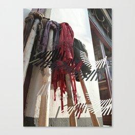 Four Skinny Trees Canvas Print