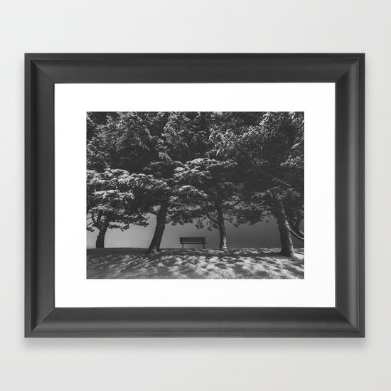 Somber Evening Framed Art Print