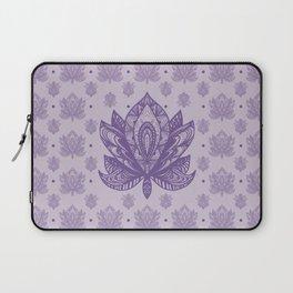 Gentle Pastel Purple  Lotus Flower Laptop Sleeve
