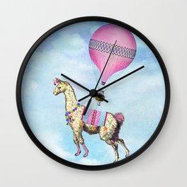 Flying Llama Wall Clock
