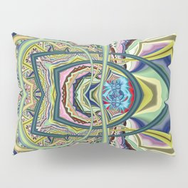 Organized chaos, abstract multicolor Pillow Sham