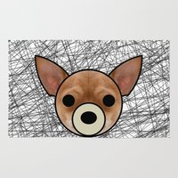 chihuahua Area & Throw Rugs featuring Chihuahua by lllg