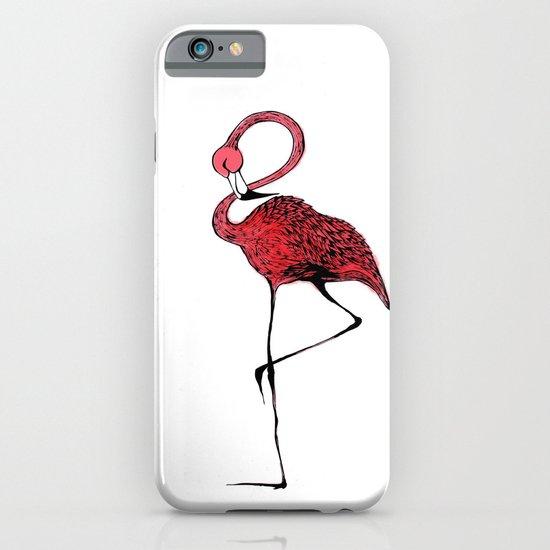 Mr. Flamingo iPhone & iPod Case