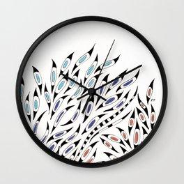 Funky Doodles Pattern Ink Bohemian Wall Clock