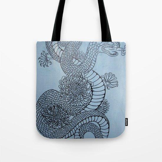 snake in the garden Tote Bag