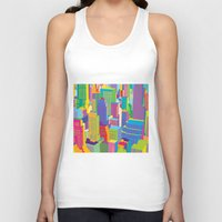 cityscape Tank Tops featuring Cityscape windows by Glen Gould