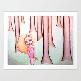 Goldilocks In The Woods Art Print