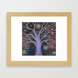 Blue Winter Tree Framed Art Print