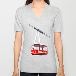 Heavenly Cable Car Unisex V-Neck