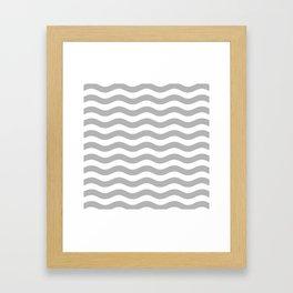 Wavy Stripes Patten Gray Framed Art Print