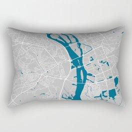 Kiev city map grey colour Rectangular Pillow