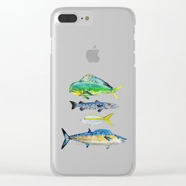 Caribbean Fish Clear iPhone Case