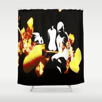 orchid Shower Curtains featuring Orchid by Angelica Gonzalez Donaire