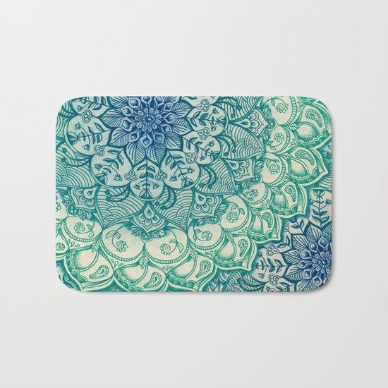 Emerald Doodle Bath Mat