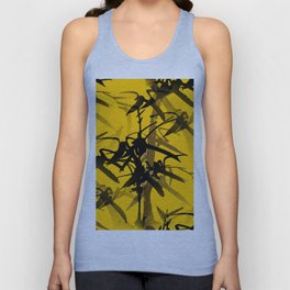 Bamboo Branches On A Yellow Background #decor #society6 #buyart #pivivikstrm Unisex Tank Top