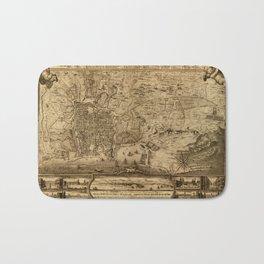Map Of Palermo 1750 Bath Mat