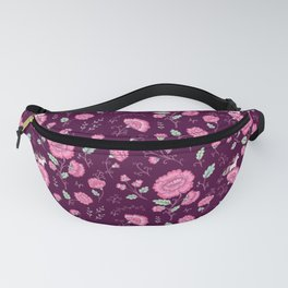 Tiny horses on rose garden Fanny Pack