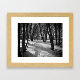 Deer Tracks Framed Art Print