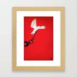 "Glue Network Print Series ""Justice & Freedom"" Framed Art Print"