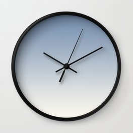 Pratt and Lambert Dusk Sky Blue 27-23 and Dover White 33-6 Ombre Gradient Blend Wall Clock
