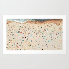 Aerial view of the beach Art Print