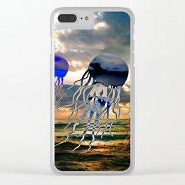 Florida Coast Jellyfish Sunset Clear iPhone Case