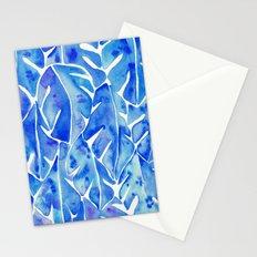 Split Leaf Philodendron – Blue Stationery Cards
