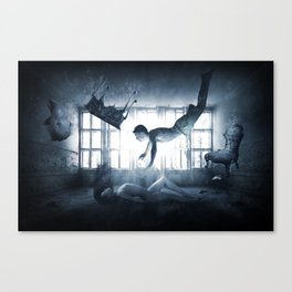 Fantasy Fly Man Woman Naked Water Room Canvas Print
