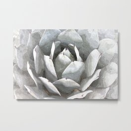 Succulent cactus watercolor Metal Print