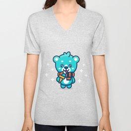 Ice Cream Bear Unisex V-Neck