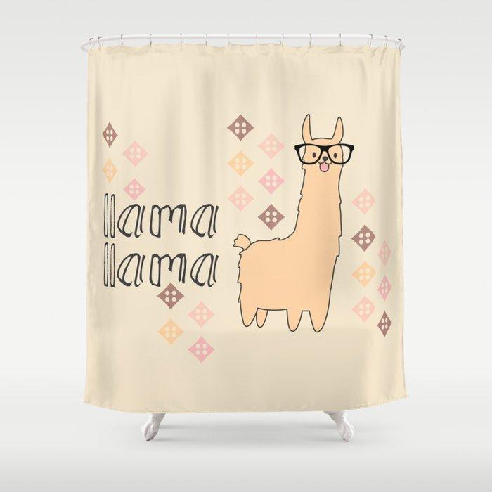 Llama Shower Curtain By Vivinicolin