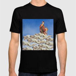 EVERYBODY'S SLEEPING SOUNDLY... DREAMING OF THE PRINCESS AND HER DEER... IN THE SKY T-shirt