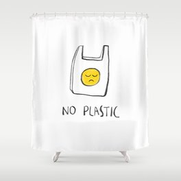 No Plastic Shower Curtain