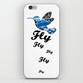 Flying Bird with Clouds iPhone Skin