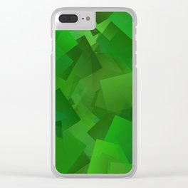 Cubed grass ... Clear iPhone Case