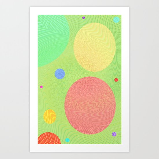 Re-Created Twisters No. 1 by Robert S. Lee Art Print