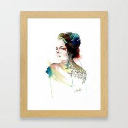 blossoming tattoos Framed Art Print