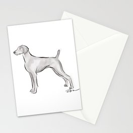 WEIMARANER INK DRAWING Stationery Cards