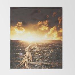 highway in los angeles Throw Blanket
