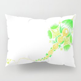Abstract kite - Green and yellow Pillow Sham