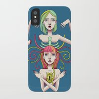 twins iPhone & iPod Cases featuring Twins by kellyhalloran