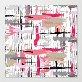 Pink Brushstroke Canvas Print