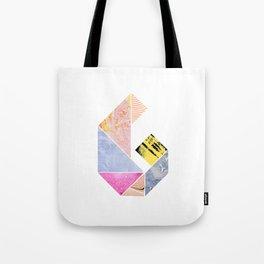 Collaged Tangram Alphabet - G Tote Bag