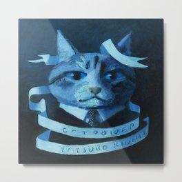 Cat Power Metal Print