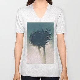 Sun blasted Palm trees Unisex V-Neck