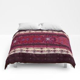 Patterns in Maroon - by Fanitsa Petrou Comforters